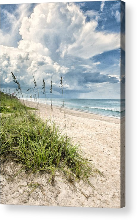 Clouds Acrylic Print featuring the photograph Clouds Over The Ocean by Cheryl Davis