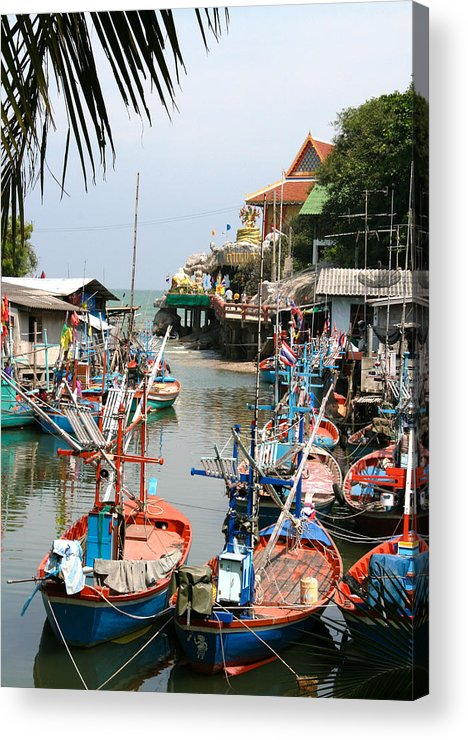 Temple Acrylic Print featuring the photograph Fishing Boats by Adrian Evans