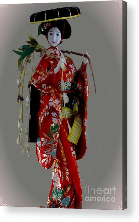 Al Bourassa Acrylic Print featuring the photograph Geisha Elegance by Al Bourassa