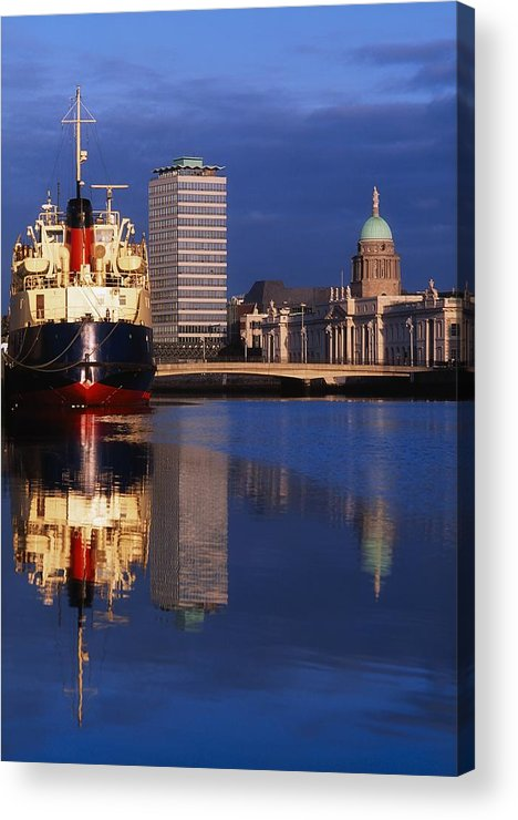 Boat Acrylic Print featuring the photograph Guinness Boat, Custom House, Liberty by The Irish Image Collection