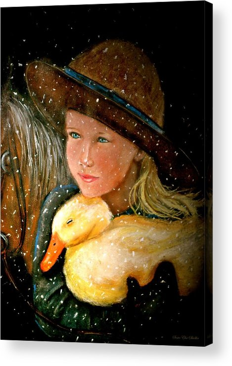 Snow Acrylic Print featuring the painting Hayden by Susan Elise Shiebler