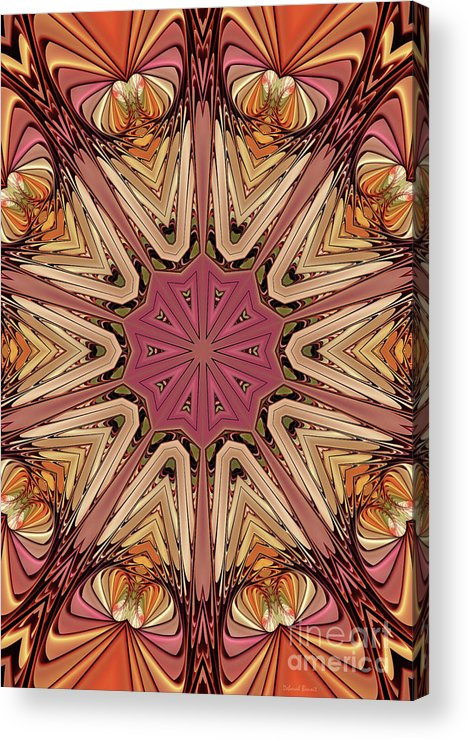 Hearts Acrylic Print featuring the digital art Hearts Desire by Deborah Benoit