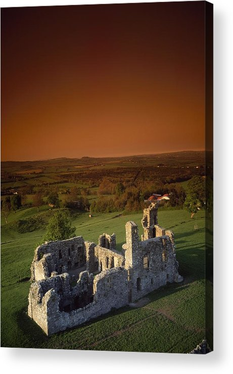Ancient Acrylic Print featuring the photograph High Angle View Of An Old Ruin,with by The Irish Image Collection