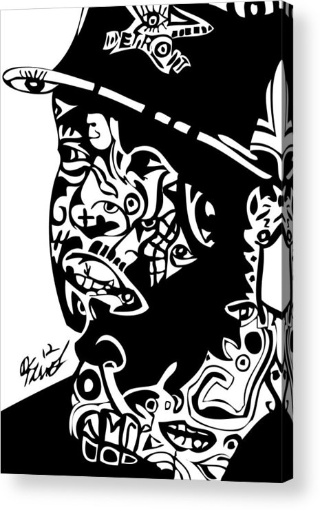 Beats Acrylic Print featuring the digital art J Dilla by Kamoni Khem