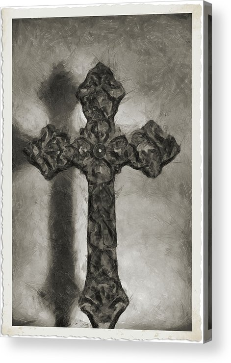Faith Acrylic Print featuring the photograph Lead Me To The Cross 4 by Angelina Vick