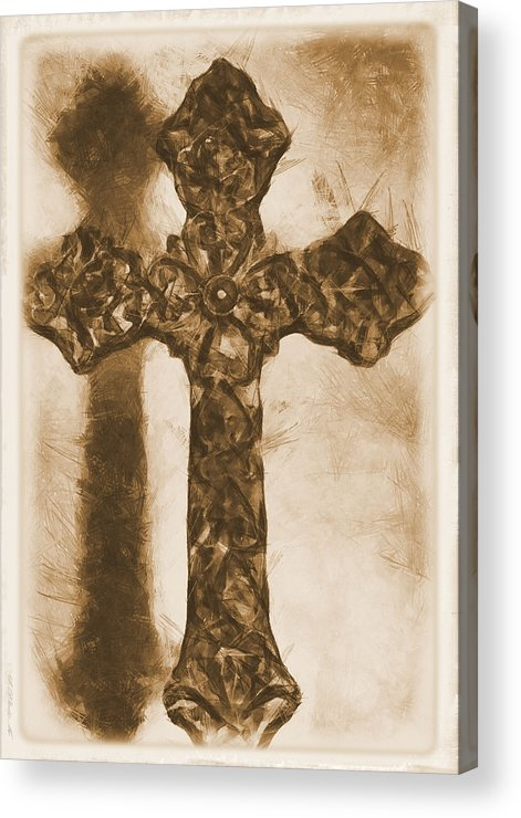 Faith Acrylic Print featuring the mixed media Lord Have Mercy 2 by Angelina Vick