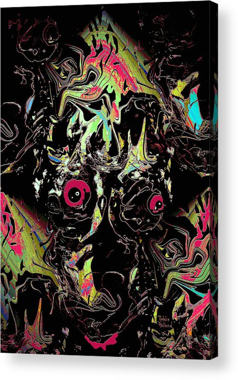 Scary Acrylic Print featuring the mixed media Nightmare by Natalie Holland