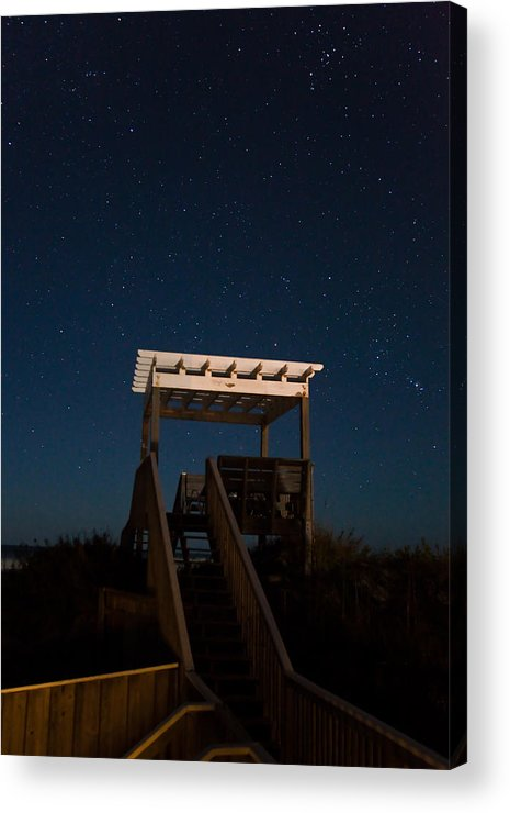 Stars Acrylic Print featuring the photograph Obx Night Sky by Patrick Flynn