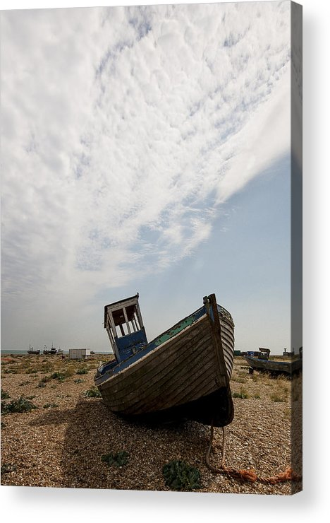 Boat Acrylic Print featuring the photograph Old Fishing Boats by Dawn OConnor