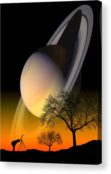 Astronomy Acrylic Print featuring the photograph Saturn Viewing by Larry Landolfi