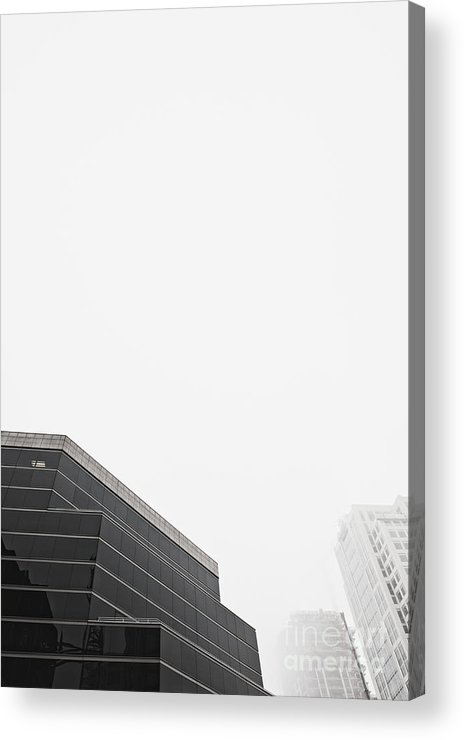 Architectural Detail Acrylic Print featuring the photograph Step Tiered Office Building With Dark Windows by Jetta Productions, Inc