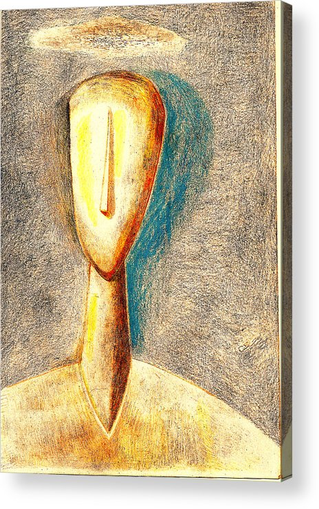 Figure Acrylic Print featuring the drawing The Nameless And Faceless by Al Goldfarb