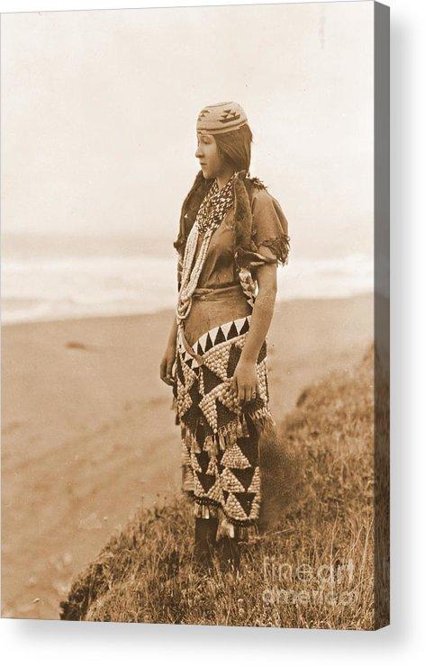 Tolowa Womans Primitive Dress Acrylic Print featuring the photograph Tolowa Womans Primitive Dress by Padre Art