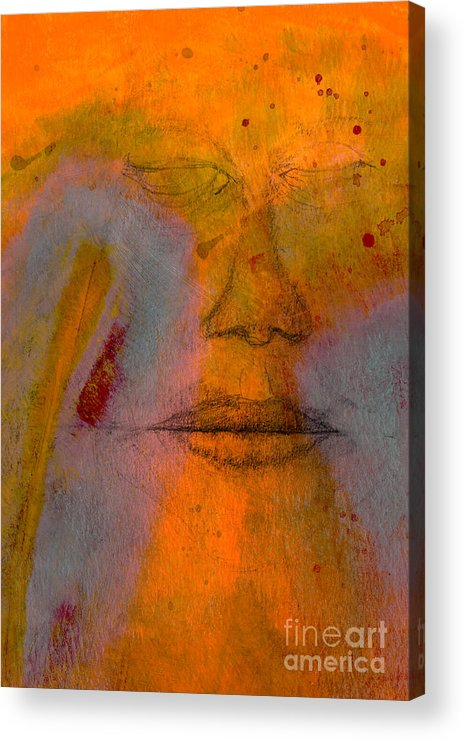 Mixed Acrylic Print featuring the digital art Untitled Mixed Media No. 2 by David Gordon