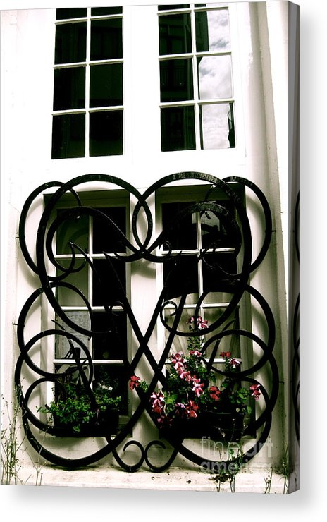 Black And White Acrylic Print featuring the photograph Viking Window by Jessica Smeira
