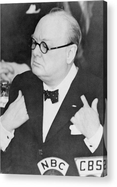 History Acrylic Print featuring the photograph Winston Churchill 1874-1965 by Everett