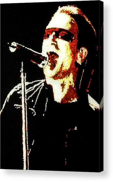 U2 Acrylic Print featuring the painting Bono by Grant Van Driest