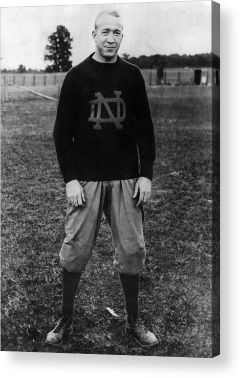 1930s Portraits Acrylic Print featuring the photograph Knute Rockne, University Of Notre Dame by Everett