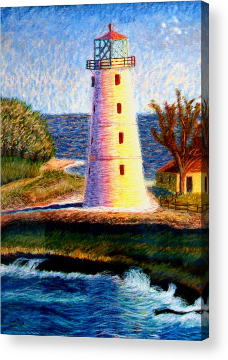 Lighthouse Acrylic Print featuring the painting Lighthouse by Stan Hamilton