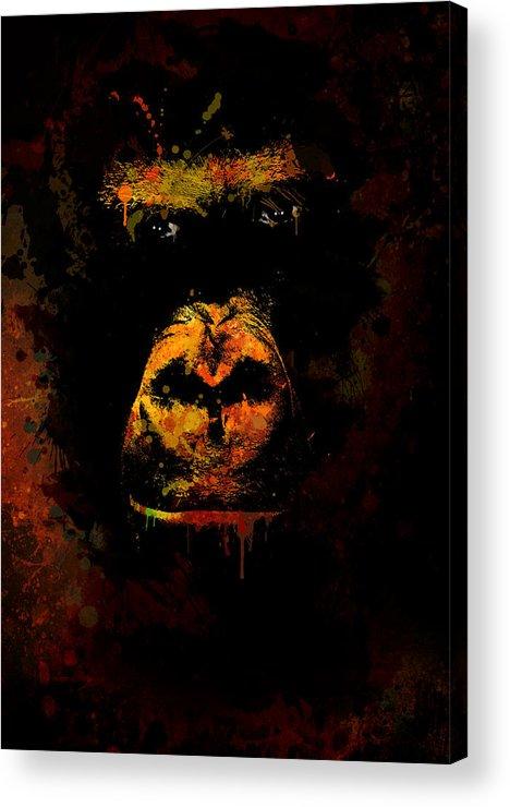 Animal Acrylic Print featuring the photograph Mighty Gorilla by Jaroslaw Blaminsky