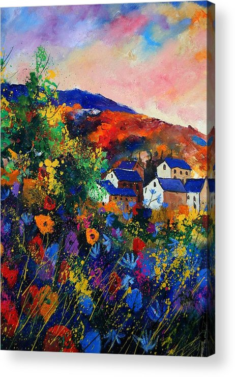 Landscape Acrylic Print featuring the painting Summer by Pol Ledent