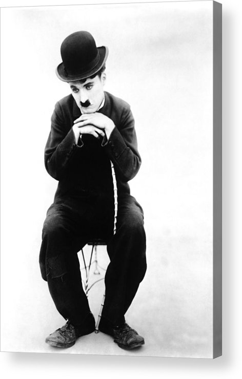 1910s Movies Acrylic Print featuring the photograph The Tramp, Aka Charlie On The Farm by Everett