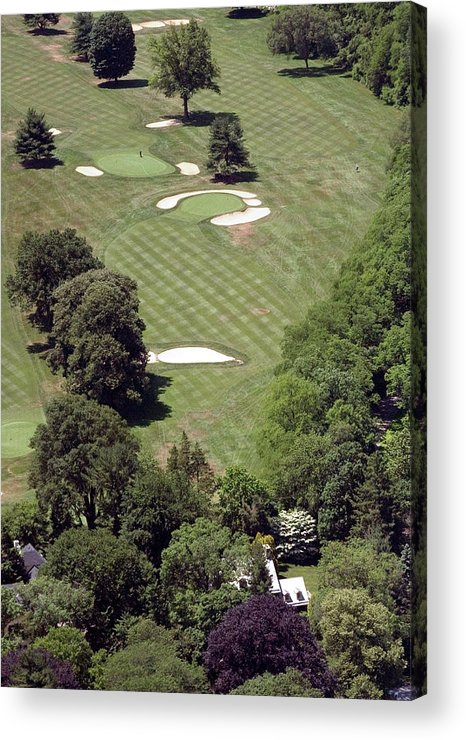 Philadelphia Cricket Club Acrylic Print featuring the photograph 2nd Hole Philadelphia Cricket Club St Martins Golf Course by Duncan Pearson