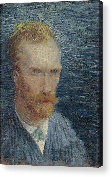 Man Acrylic Print featuring the painting Self-portrait Paris July  August 1887 Vincent Van Gogh 1853 1890 by Artistic Panda