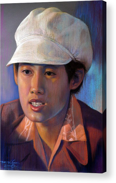Realism Acrylic Print featuring the painting Untitled by Chonkhet Phanwichien
