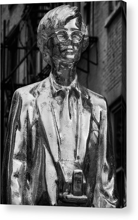Andy Warhol Acrylic Print featuring the photograph Andy Warhol Statue Union Square Nyc by Robert Ullmann
