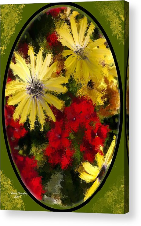 Flowers Acrylic Print featuring the painting Abstract Flowers 2 by Harry Dusenberg