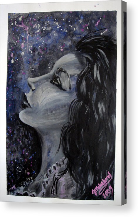 Acrylic Print featuring the painting Amaya Looks To The Stars by Jenni Walford