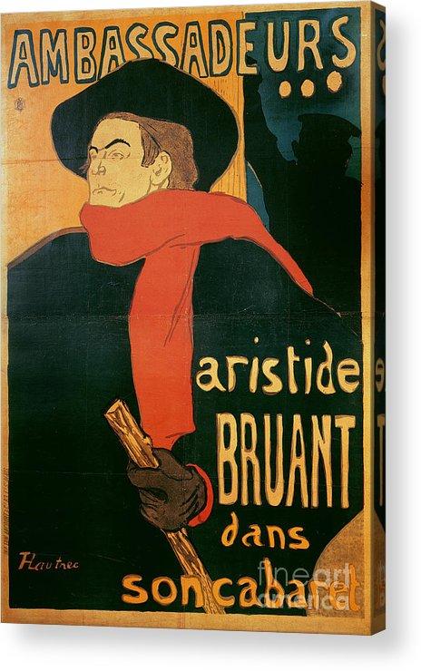 Henri De Toulouse-lautrec Acrylic Print featuring the painting Ambassadeurs by Henri de Toulouse-Lautrec