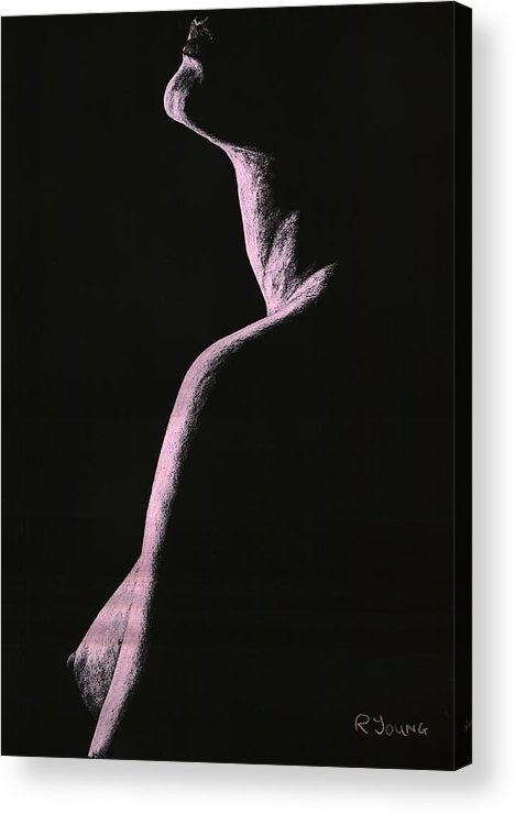 Nude Acrylic Print featuring the pastel Arrogance by Richard Young
