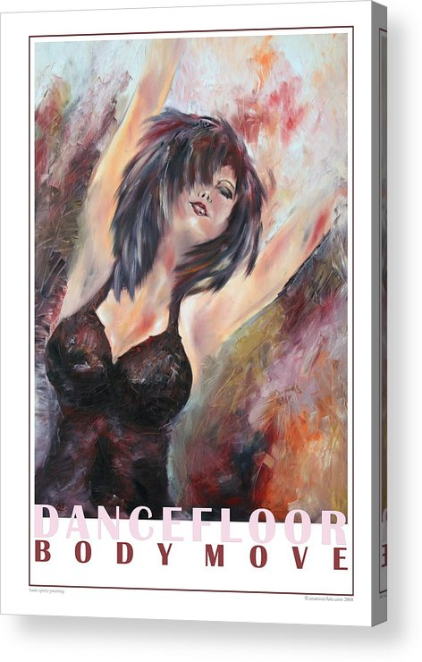 Girl Acrylic Print featuring the painting At The Dancefloor by Harri Spietz