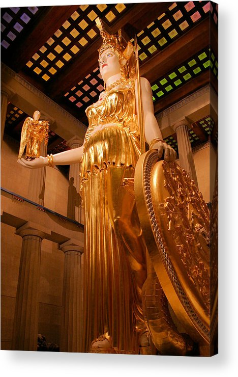 Athena Acrylic Print featuring the photograph Athena With Nike by Kristin Elmquist