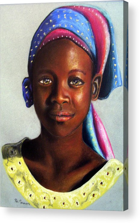 African Acrylic Print featuring the painting Beauty by Paul Sandilands