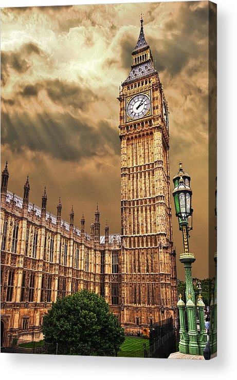 Big Ben Acrylic Print featuring the photograph Big Ben's House by Meirion Matthias