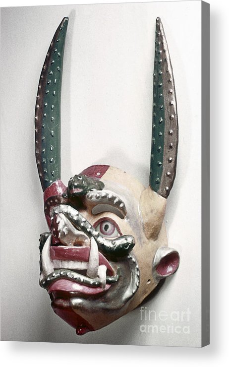 Artifact Acrylic Print featuring the photograph Bolivia: Native Mask by Granger