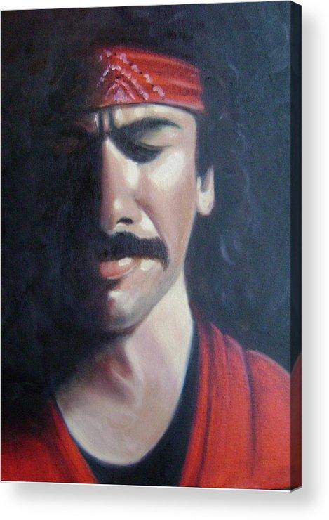 Santana Acrylic Print featuring the painting Carlos Santana by Toni Berry