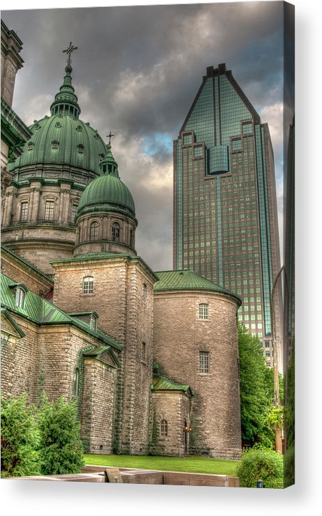Marie-reine-de Monde Acrylic Print featuring the photograph Cathedral by Elisabeth Van Eyken