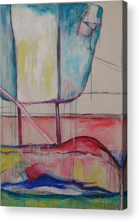 Chair Acrylic Print featuring the painting Chair by Moby Kane