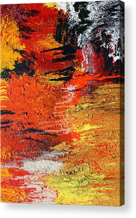 Fusionart Acrylic Print featuring the painting Chasm by Ralph White