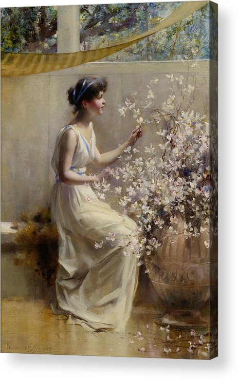 Francis Coates Jones Acrylic Print featuring the painting Classical Maiden by Francis Coates Jones