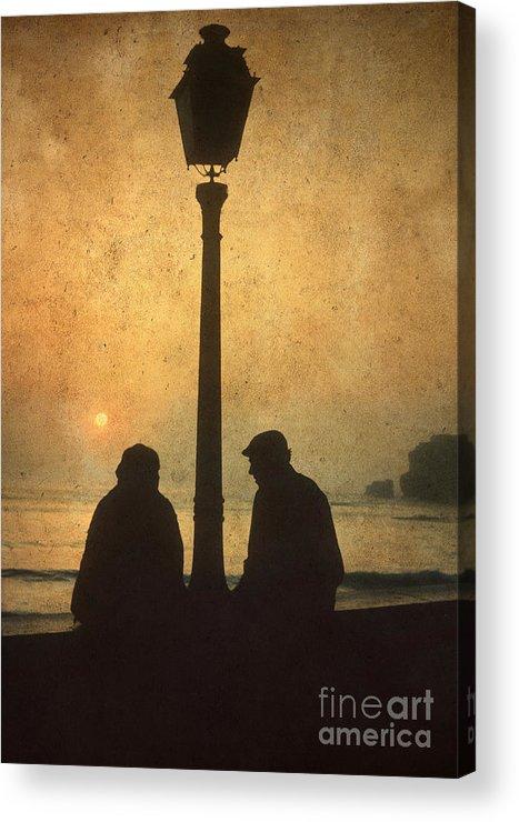 Outdoors Acrylic Print featuring the photograph Couple by Bernard Jaubert
