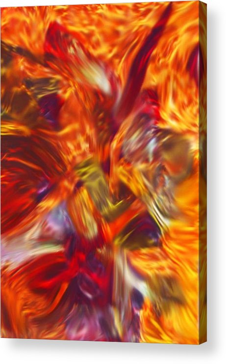 African Acrylic Print featuring the painting Creations Vortex by AJ Modiest