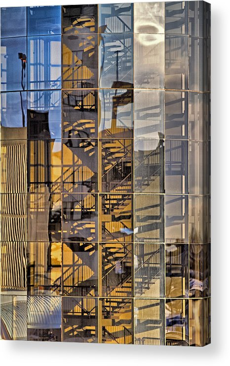 Shadow Acrylic Print featuring the photograph Curvature Vertebrae And Sunlight by Russell Styles