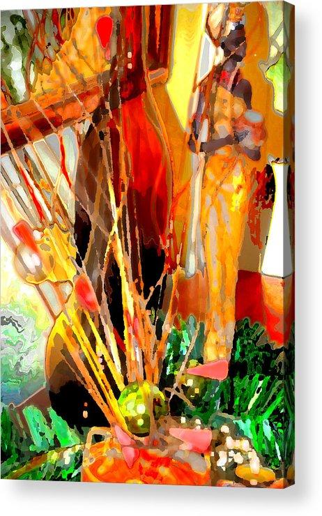 Tribal Acrylic Print featuring the digital art Data Lady by Danielle Stephenson