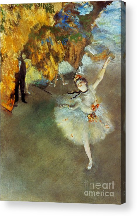 19th Century Acrylic Print featuring the photograph Degas: Star, 1876-77 by Granger