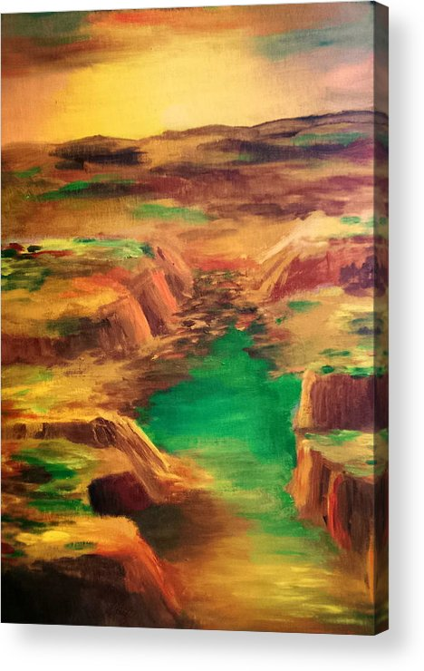Water Acrylic Print featuring the painting Ditch by Vivian Mosley
